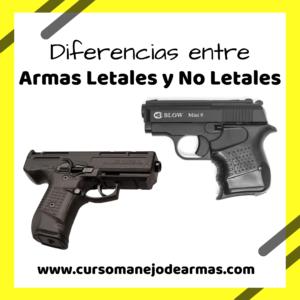 Diferencias entre armas letales y no letales